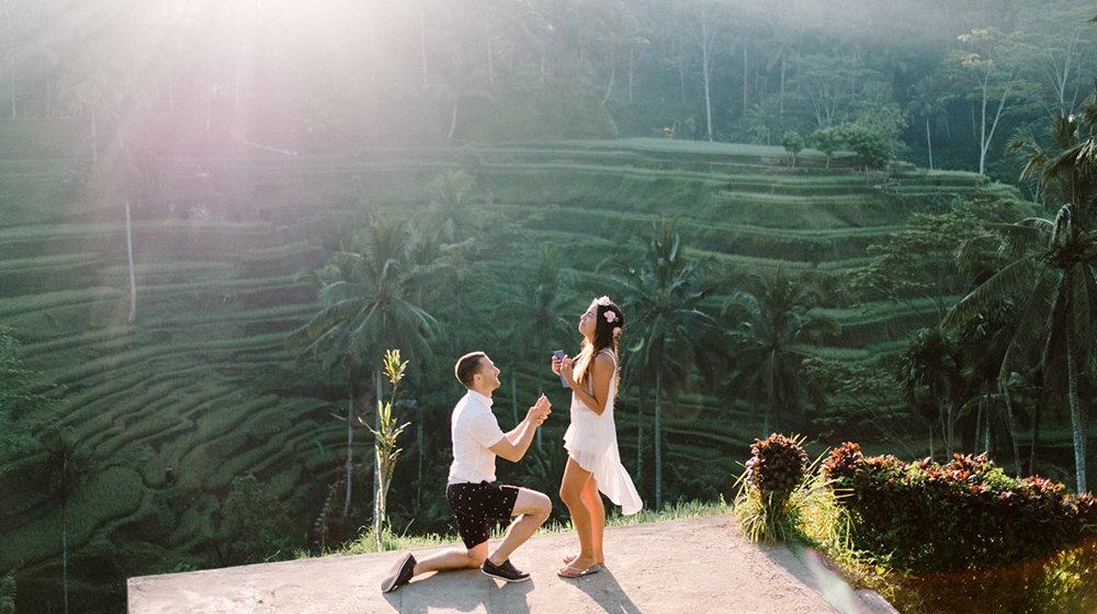 Ubud Bali Surprise Proposal Photography