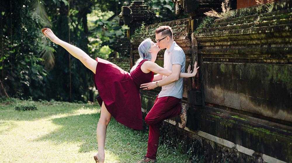 romantic bali marriage proposal