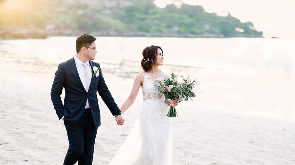 beach inspired bali destination wedding