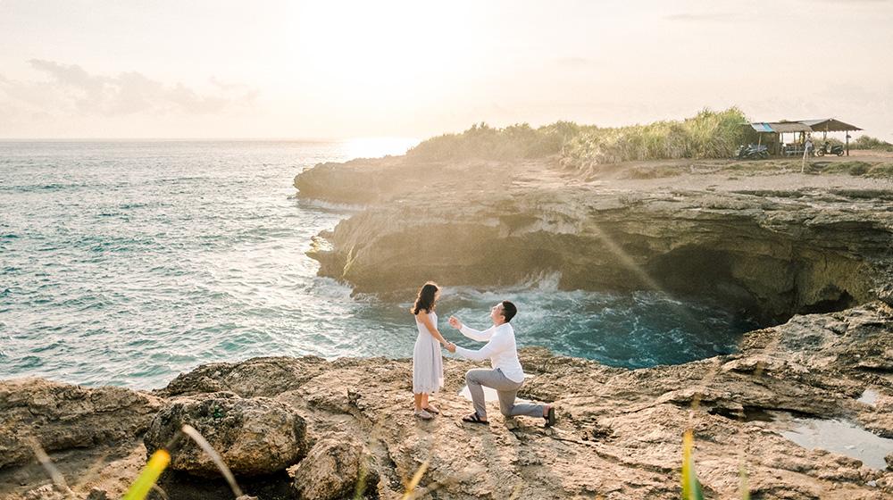 nusa lembongan island surprise proposal