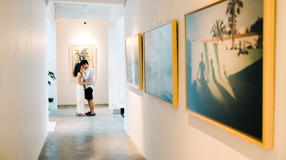 the slow bali indoor engagement session