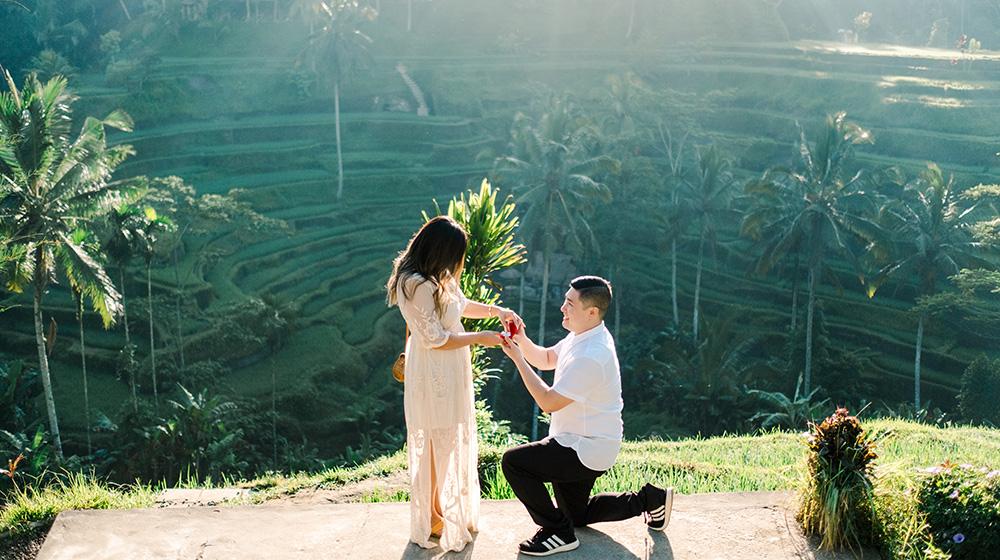 bali sunrise surprise proposal