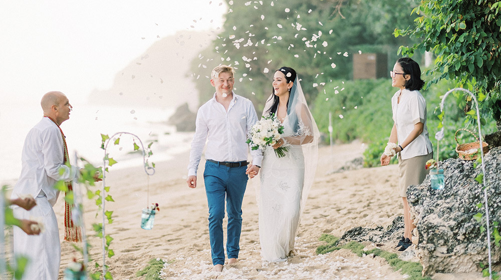 bali elopement at samabe