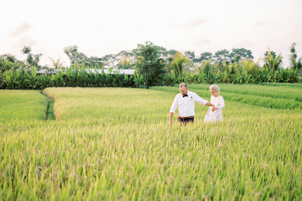 canggu rice fields prewedding