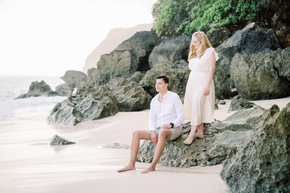 melasti beach engagement session