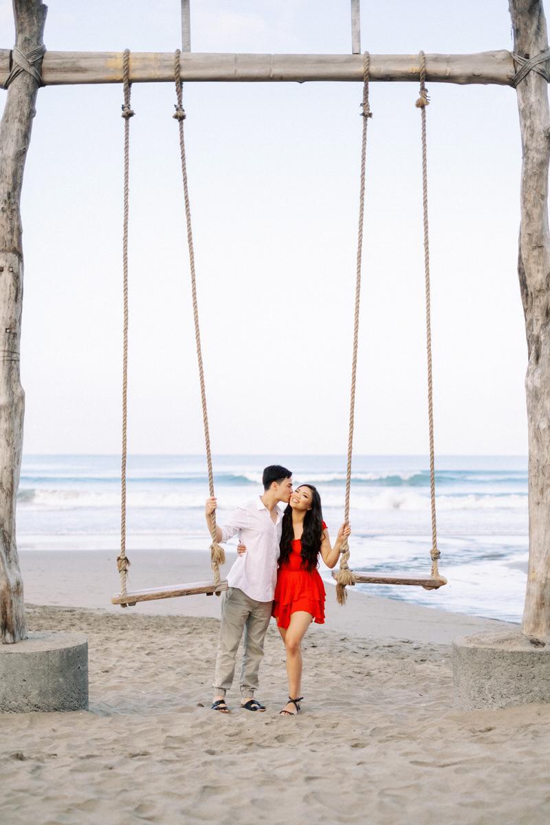 seminyak beach engagement