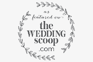 as featured on the wedding scoop .com