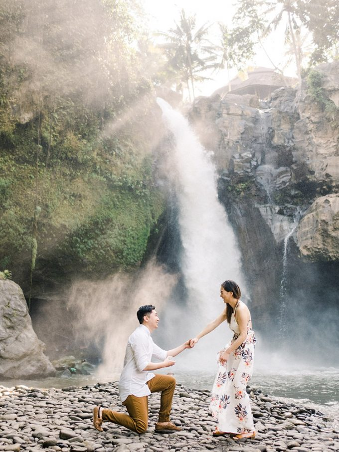 Adventurous Waterfall Surprise Proposal