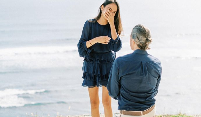 bali beach marriage proposal with a proposal video