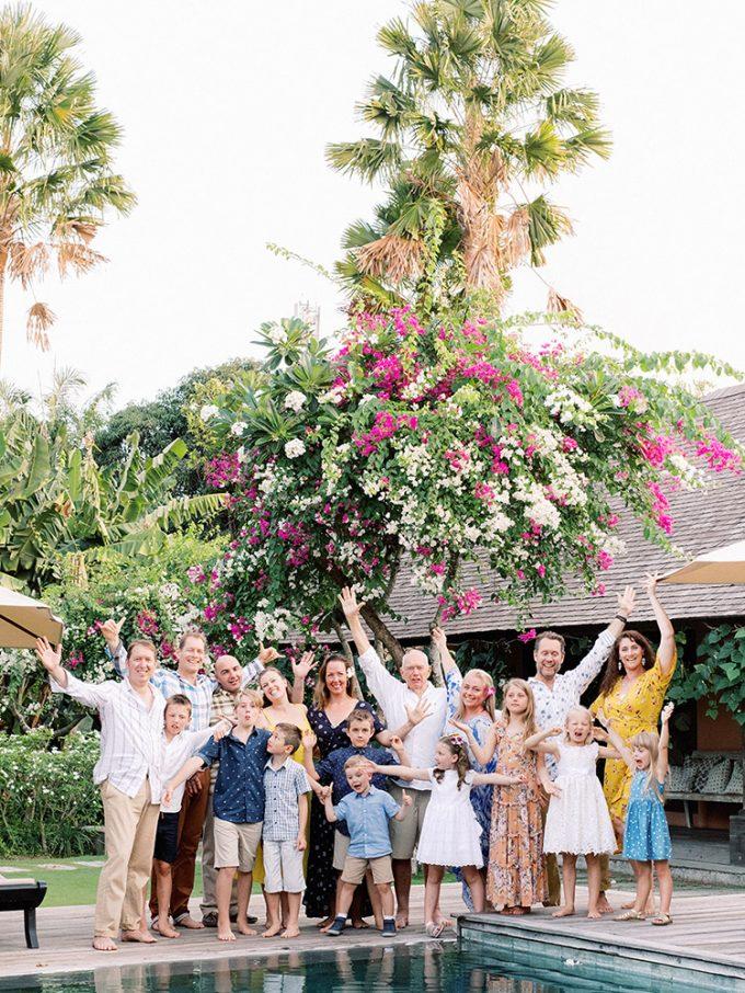 bali extended family vacation photo