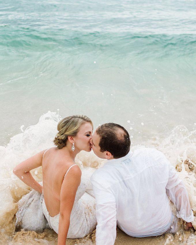 bali honeymoon photography trash the dress