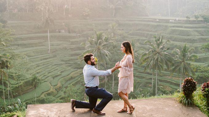 bali proposal photography at tegalalang rice terrace