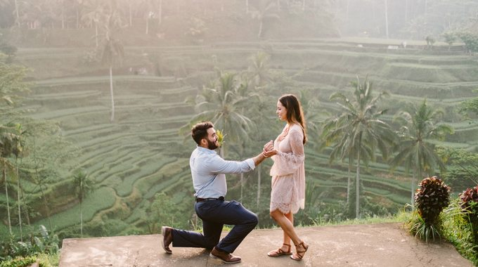 bali proposal photography at tegalalang rice terrace