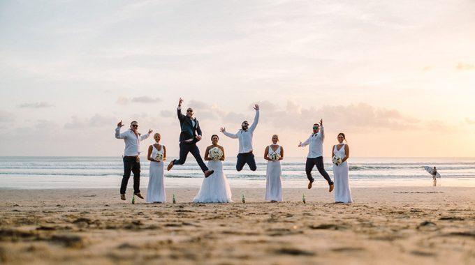 bali wedding photography at legian beach