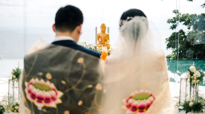 buddhist wedding ceremony in bali