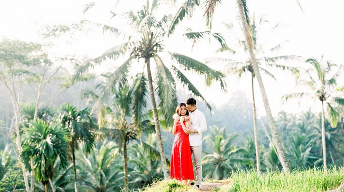 fine art tegalalang rice terraces engagement