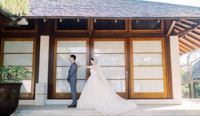 first look wedding idea