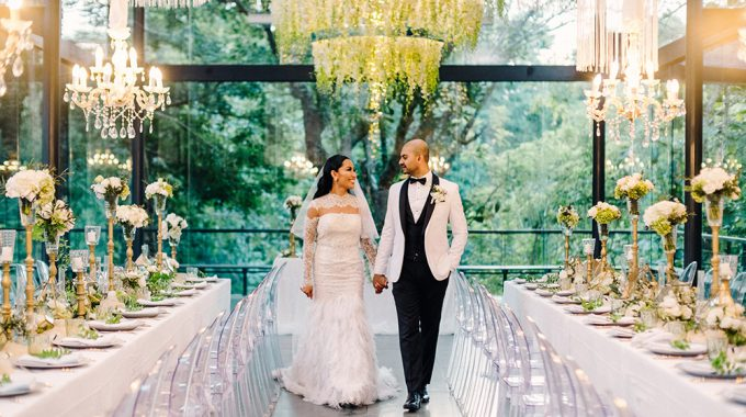 luxury bali wedding reception at the glass house