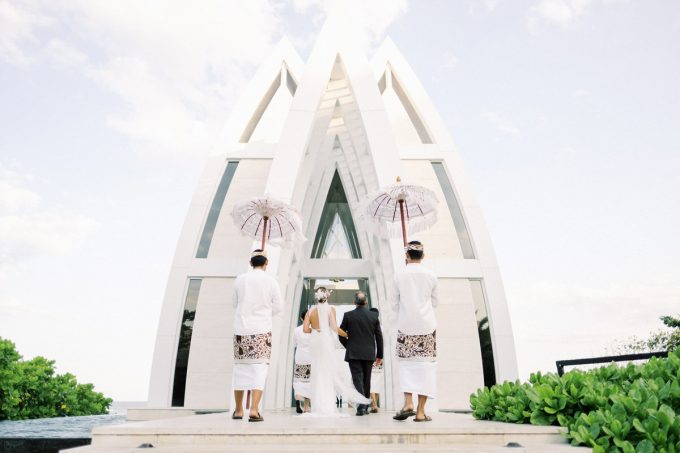 majestic chapel of the ritz carlton bali wedding