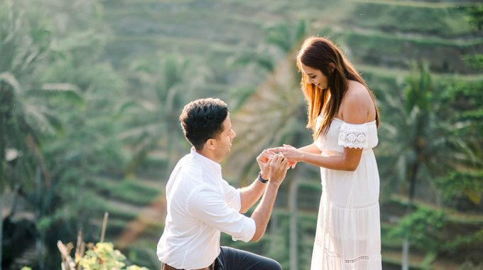 perfect surprise proposal in bali
