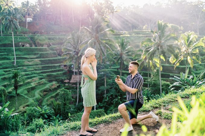 proposal photoshoot in ubud