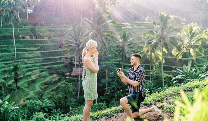 proposal photoshoot in ubud