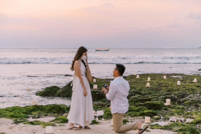 Raffles Bali Surprise Proposal Dinner