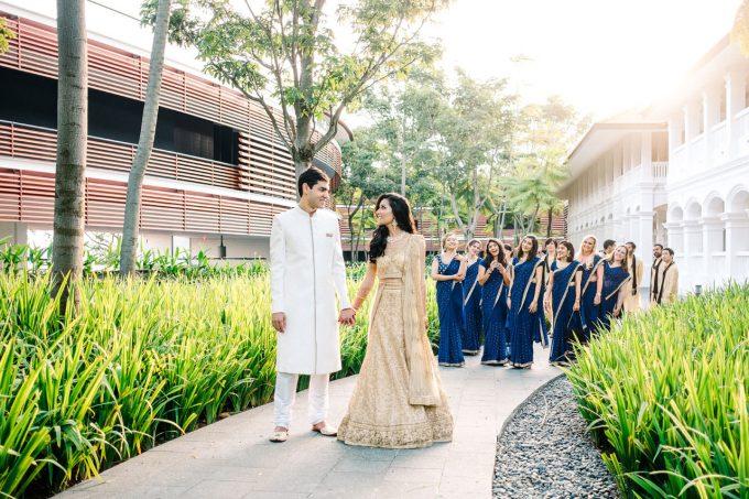 singapore indian wedding capella hotel
