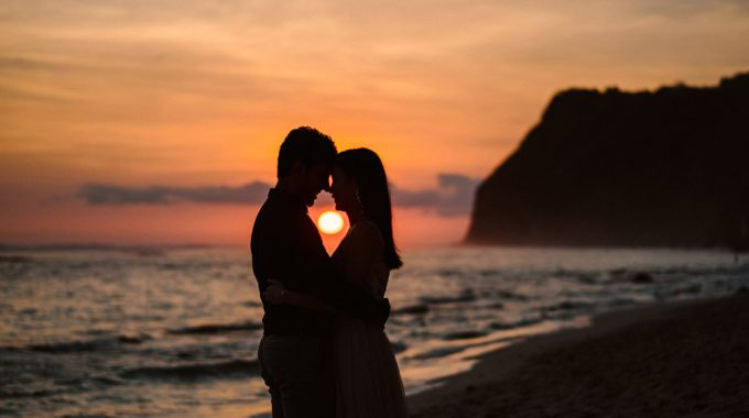 sunset bali engagement photoshoot