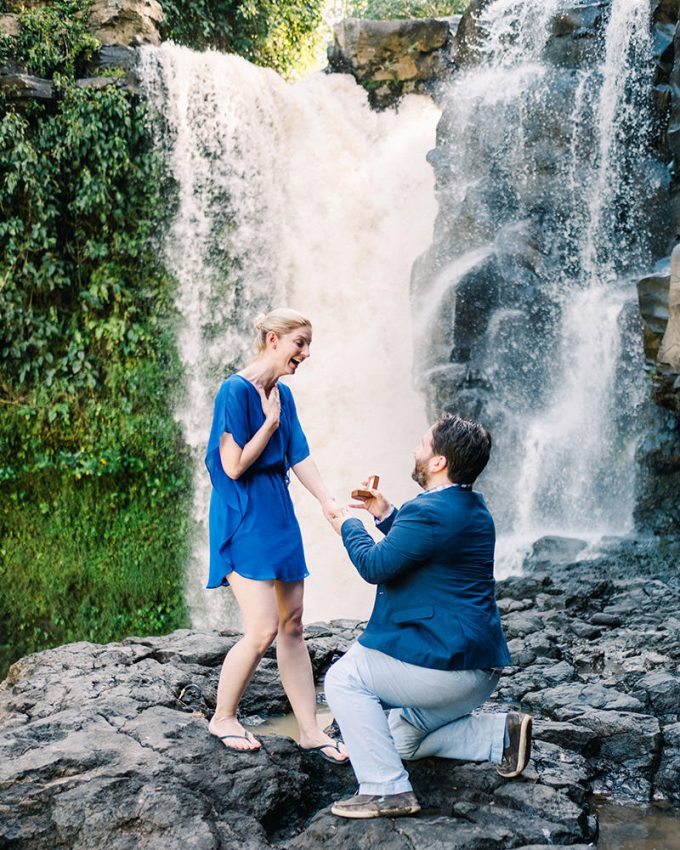 surprise proposal on bali vacation