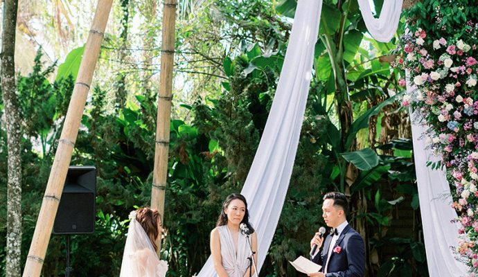 whimsical bali forest wedding