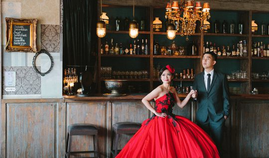 Glamour Prewedding Photography at The Bistrot Bali
