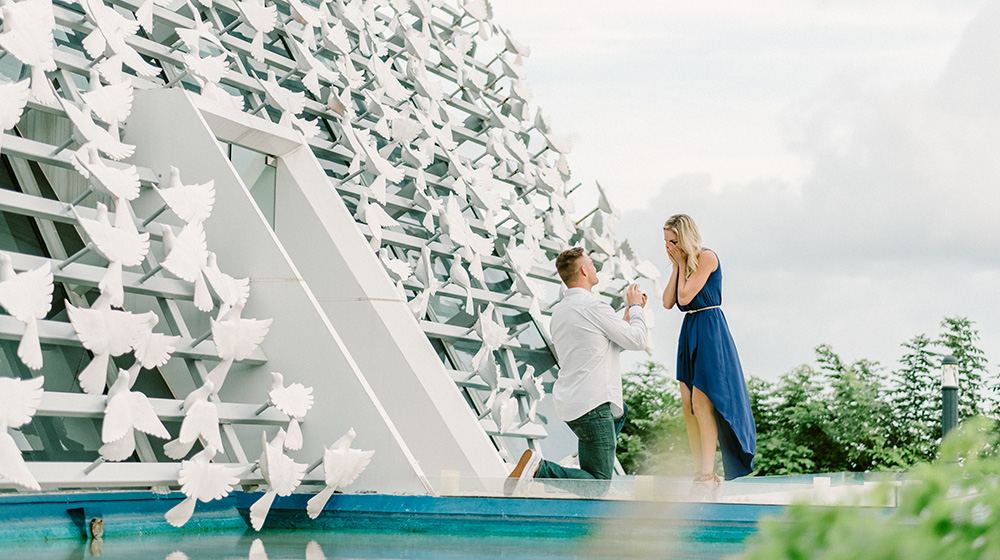 Ben & Amie's Surprise proposal Photography at Banyan Tree Resort Bali